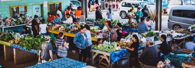 The markets of Neiafu
